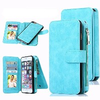 iPhone 6 Case, CaseUp 12 Card Slot Series - Premium Flip PU Leather Wallet Case Cover (ブルー)お財布付き ...
