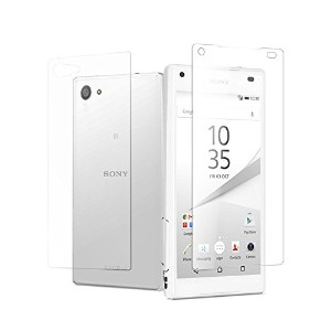 MS factory Xperia Z5 Compact [ 両面セット ] 液晶 背面 保護 ガラスフィルム docomo SO-02H フィルムガラス 国産 強化ガラス 透明フィルム 前面&背面...