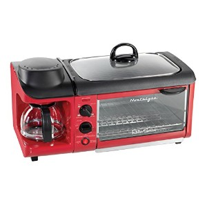 Nostalgia Electrics BSET300RETRORED Retro Series 3-in-1 Breakfast Station 並行輸入