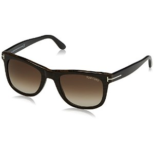 Tom Ford Leo TF 336/S 05K Brown Wood TF336/S Mens Sunglasses 52mm