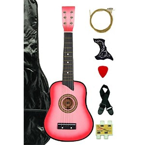 Pink Acoustic Toy Guitar for Kids with Carrying Bag and Accessories & DirectlyCheap(TM) Translucent...