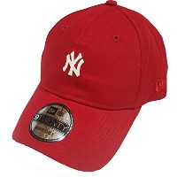 New Era NY Yankees Red Classic Mini Logo 9twenty Strapback Cap Adjustable
