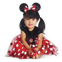 Disney Red Minnie Mouse Infant Costume ディズニーレッドミニーマウスの幼児のコスチューム サイズ:6/12 Months