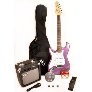 SX RST 3/4 MPP レフトハンドモデル レフティ 左利き Short Scale Purple Guitar Package with Amp, Carry Bag and...