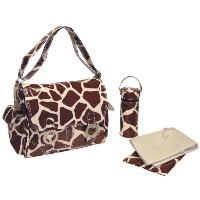 Kalencom Double Buckle Bag Giraffe-chocolate/Cream マザーズバッグ KC0002-05