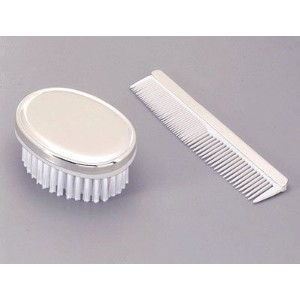 COMB/BRUSH - BOYS, NICKEL PLATED. [Baby Product] by Creative Gifts