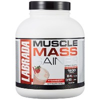 Labrada Nutrition Muscle Mass Gainer, Strawberry, 6 Pound by Labrada