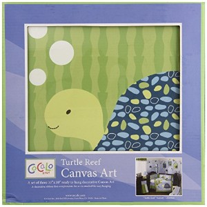 CoCaLo Turtle Reef 3 Piece Canvas Wall Art by CoCaLo
