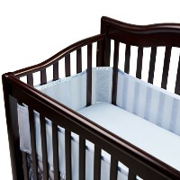 BreathableBaby Breathable Mesh Crib Liner, Blue (Discontinued by Manufacturer) by BreathableBaby