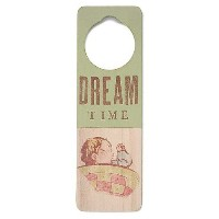 Tree By Kerri Lee Wooden Doorknob Sign Dream Time, Green by Tree by Kerri Lee