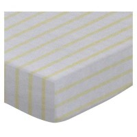 SheetWorld Fitted Pack N Play (Graco) Sheet - Yellow Stripes Jersey Knit - Made In USA by sheetworld