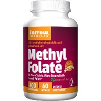 海外直送品Jarrow Formulas Methyl Folate, 60 Caps 400 mcg (Pack of 2)