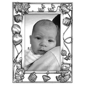 Malden Nursery Parade Baby Metal Picture Frame by Malden