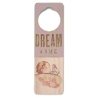 Tree By Kerri Lee Wooden Doorknob Sign Dream Time, Pink by Tree by Kerri Lee