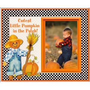 Cutest Pumpkin in the Patch - Halloween Picture Frame Gift by Expressly Yours! Photo Expressions