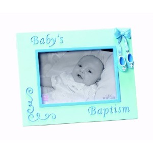 Russ Berrie Small Blessings Baby's Baptism Photo Frame, Blue (Discontinued by Manufacturer) by Russ...