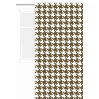 Houndstooth White/chocolate Curtain Panel by Bacati