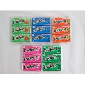 Trident トライデント 無糖ガム バラエティ 15パック 並行輸入品 Trident Variety Pack, Long Lasting Flavor: 15 Pack of 18...