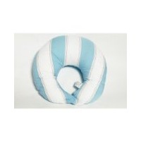 Metro Blue/White/Chocolate Nursing Pillow Cover only by Bacati
