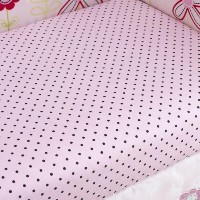 Too Good by Jenny McCarthy Pretty in Pink Fitted Crib Sheet by Pem America