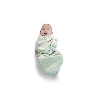 Journey Deluxe Embroidered Swaddle Wrap - Velour Lined by FAO Schwarz