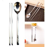 [QUEEN SENSE] ステンレススチールスプーンと箸3セット / Stainless Steel Spoon and Chopsticks 3Set / タートルパット / Turtle...