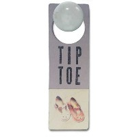 Tree By Kerri Lee Wooden Doorknob Sign Tiptoe, Lavender by Tree by Kerri Lee