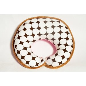 Dots Pink/White/chocolate Nursing Pillow Cover by Bacati