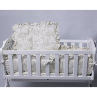 Baby Doll Bedding Toile Cradle Set, Green by BabyDoll Bedding
