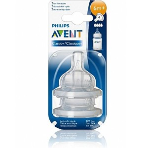 Avent Naturally Fast Flow Size 4 Age 6 Months + Bottle Nipples by Philips AVENT