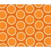 SheetWorld Fitted Pack N Play (Graco) Sheet - Primary Bubbles Orange Woven - Made In USA by...