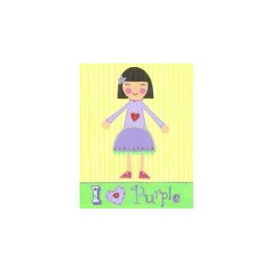 The Little Acorn Painting, I Love Purple Girl by Little Acorn