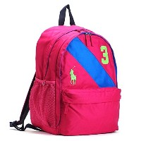 RALPH LAUREN(ラルフローレン) バックパック PK 950077 BANNER STRIPE II BACKPACK LG FUCHSIA/ROYAL HIGH DENSITY...