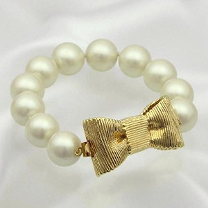 ケイトスペード ブレスレット KATE SPADE ALL WRAPPED UP PEARL WBRU3413 BRACELET 152 CREAM/GOLD 並行輸入品