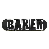BAKER DECK(ベイカー)デッキTEAMBRAND LOGO・BLACK/WHITE・8.0
