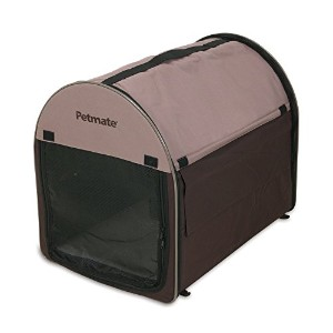 Petmate Portable Pet Home, Mini, Dark Taupe/Coffee Grounds Brown by Petmate