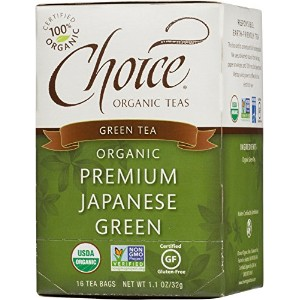 海外直送品Choice Organic Teas Premium Japanese Green Tea, 16 BAGS