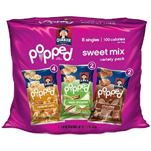 Quaker Popped Sweet Mix Rice Snacks Variety Pack クエーカーポットスイートミックスライススナックバラエティーパック 26gx8(208g) ...