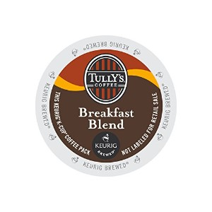 Keurig Tully's(タリーズ)KカップTully's Coffee K-Cup for Keurig Brewers 並行輸入品 (ブレックファストブレンドBreakfast Blend,...