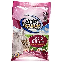 Chicken and Rice Cat/Kitten Food Size: 6.6-lb bag by NutriSource