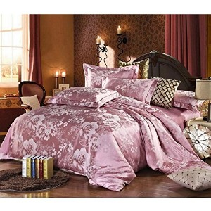 FeiLimei Bedding&Clothes 布団カバー4点セット バイオレットBC503