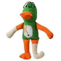 Doggles Cast of Characters Large Dog Toy, Green Duck by Doggles
