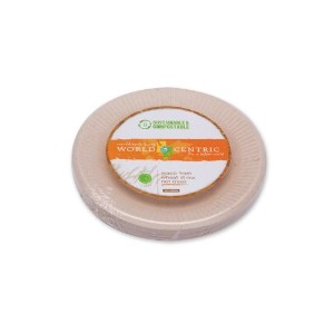 海外直送品Wheat Straw Bagasse 6-Inch Compostable Fiber Ripple Edge Plate, 20 CT by World Centric