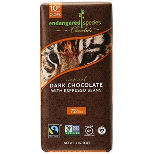 Endangered Species Dark Chocolate With Espresso Beans ダーク チョコレート エスプレッソビン 85g [海外直送品]