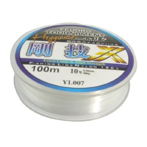 uxcell 釣り糸 10# クリア ナイロン糸 0.55mm ダイヤ 35kg 釣りライン スプール 100M