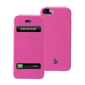 JISONCASE PUレザー フリップ ケース for iPhone SE / iPhone 5S / iPhone 5 全10色 JS-IP5-02H ローズ 【日本正規代理店品】