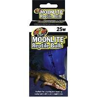 Zoo Med Moonlite Reptile Bulb 25W Nightime Viewing Heating for Terrarium Animal