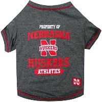 Nebraska Corn Huskers Pet Shirt LG
