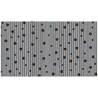Drymate 16 by 28-Inch Dog Bowl with Large Place Mat in Paw Stripe Design, Grey/Black by Drymate