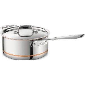 All-Clad 6203 SS Copper Core 5-Ply Bonded Dishwasher Safe Saucepan with Lid / Cookware, 3-Quart,...